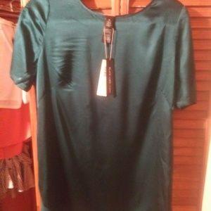 Chicos silk blouse dark green